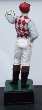 Custom painted lawn jockey statue
