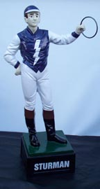 Custom made painted lawn jockey statue