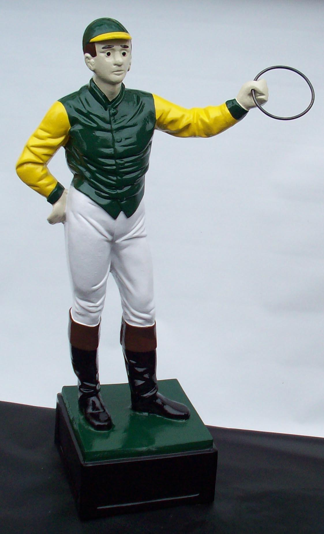 Custom Jockey Statue Painted Club Stable Custom Made