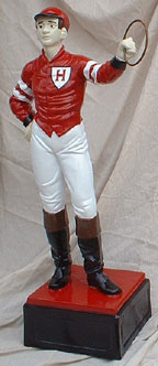 custom painted lawn jocky statue