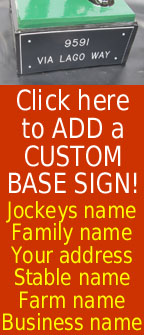 Lawn Jockey statue base sign