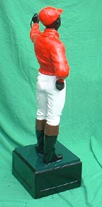 jocko jockey  hand-painted cast iron black lawn jockey colored negro jocko statue
