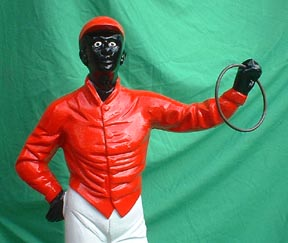 lawn jockey statue horse racing cast iron jockey statue african american colored negro jocko
