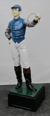 Blue Lawn Jockey Photo jpg gif image picture pic