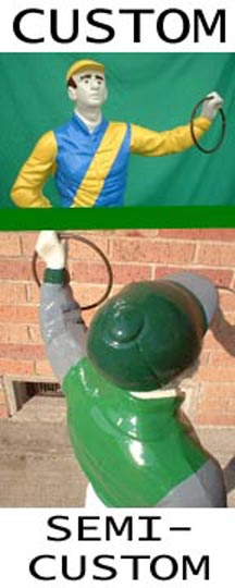 Lawn Jockey Picture custom painted