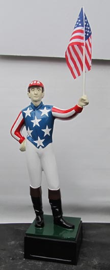 uncle sam betsy ross us flag patriotic lawn jockey statue