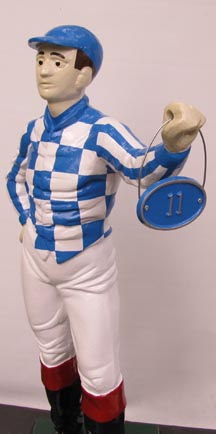 lawn jockey custom address sign
