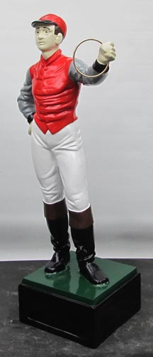 Red Lawn Jockey statue Photo jpg gif image