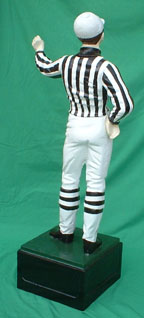 statue of a foot ball referree aluminum statue private photo lawn jockey jpg gif avi movie