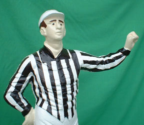 cast iron aluminum football referree pic picture lawn jockey statue photo jpg gif avi movie