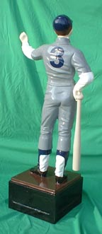 statue of a baseball hall of fame full uniform pic picture cast iron aluminum statue private photo jpg gif avi movie