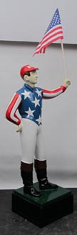 lawn-jockey flag holder betsy ross uncle sam lawn jock cast aluminum lawn jockey statue