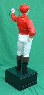 european american jocko jockey hand-painted cast iron lawn jockey statue