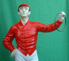 lawn jockey statue horse racing cast iron lawn-jockey white jockey statue politically correct jocko